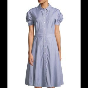 Super cute fit and flare shirt dress